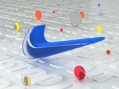 Nike Logo design animation art cinema4d logo3d nikelogo octanerender nike render 3d colorful c4d
