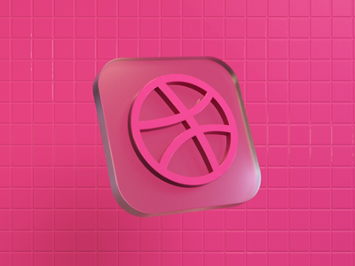 Dribbble Icon art socialmedia icon icon set 3dcharacter octanerender c4d render colorful cinema4d 3d art 3d modeling 3dicon 3d artist 3d