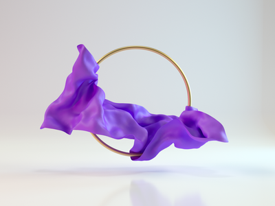 Purple Cloth abstract art cloth art colorful octanerender cinema4d render houdini c4d 3d modeling 3d art 3d