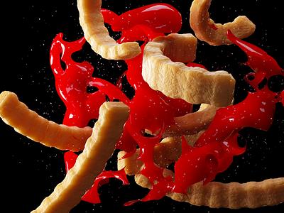 French Fries french fries art cinema4d octanerender render colorful c4d 3d art 3d modeling 3d