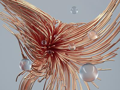 Metal wires illustration design 3dart c4d colorful cinema4d art render animation motion graphics 3d