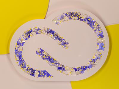 Creative Cloud Logo Concept creativecloud adobe logo animation cinema4d 3d render art colorful c4d
