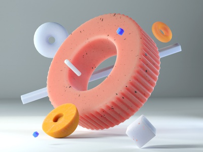 Geometric Composition composition bright geometry abstract design cinema4d 3d render art colorful c4d