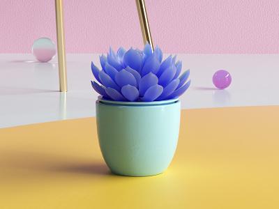 Succulent motion graphics illustration plant octane design cinema4d render art colorful c4d 3d