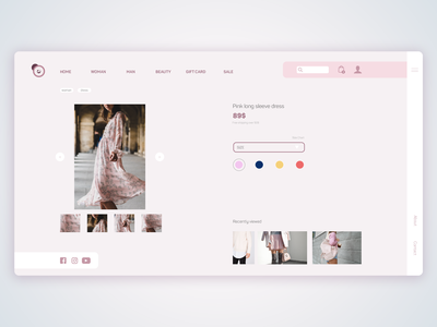 Web concept for eCommerce site ui vector photoshop webdesign