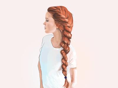 red braid girl