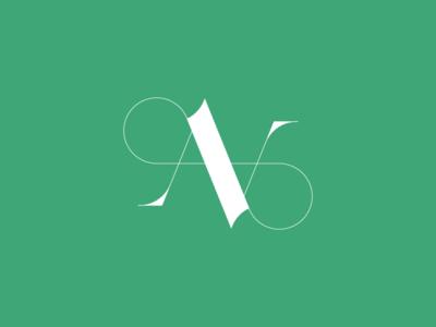 AV Serif Ambigram