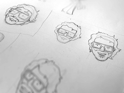 Self portrait illustration (sketch)