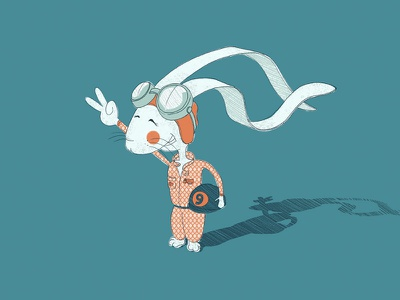 Small character portfolio - Bunny no.9 illustration character wacom photoshop simple