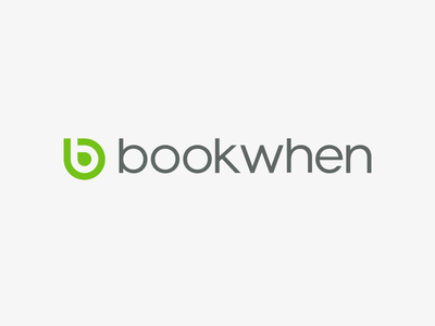 bookwhen brand typography icon vector brand logo
