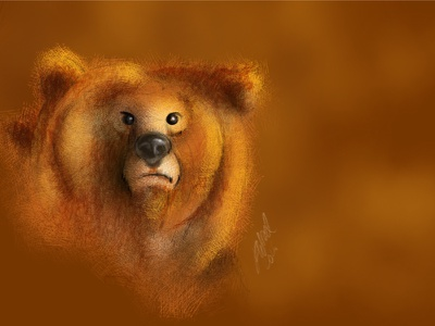 Grumpy Bear apple pencil art digital ipad pro sketch bear illustration