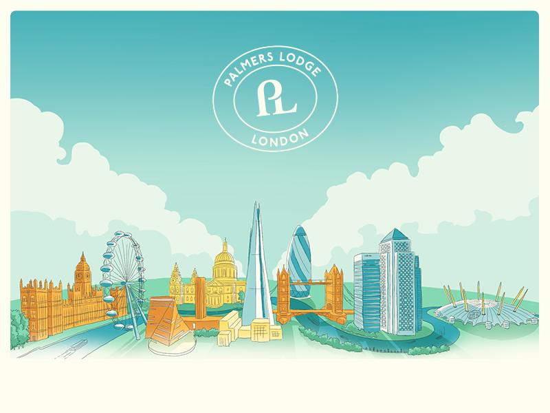London Skyline skyline landscape cityscape city london brand branding architecture illustration