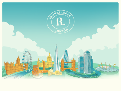 London Skyline skyline landscape cityscape city london brand branding architecture illustration