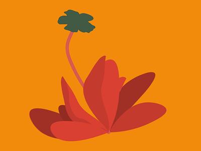 Generating Flowers - First try web javascript coding p5js design illustration
