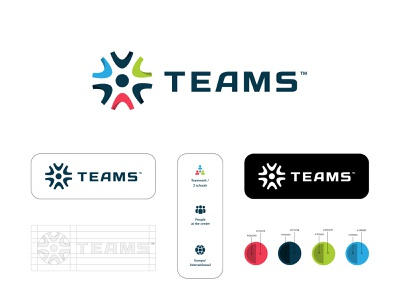 Logo exploration TEAMS icon logo minimal flat clean design school app color logotype school logo branding brand students school maritime