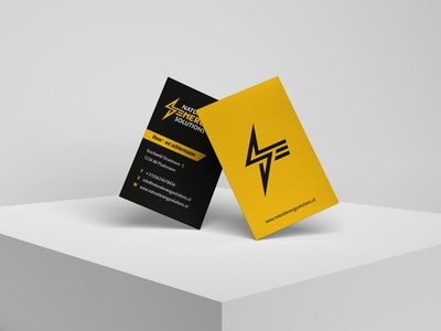 Logo and businesscard design design illustrator flat icon minimal logo branding design identity design businesscard blackletter yellow energy logo solutions energy