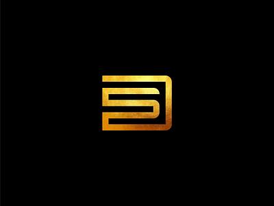 DS mark vector adobe illustrator designs designer logomark lettermark letters lettering identity branding illustrator flat icon logo font design logotype gold ds logo d logo design