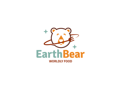 Logo for EarthBear flat identity design vector earthy logodesigner logodesign bear logo artwork art illustrations illustraion food and drink food eat bear earth