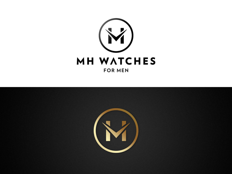 Logo for a watch brand iconography branding and identity icon flat clean minimal identity design logo design logotype logo gold watch logo watch design app designs branddsign branding
