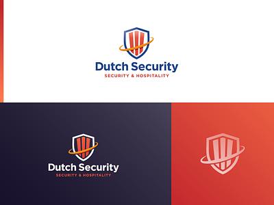 Logo for a Dutch Security Company orange blue red clean flat icon identity illustration illustrator minimal design logodesign branding secure dutch security logo security logo