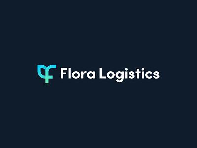 Flora Logistics - Logo Design icon identity branding logo software flora plant