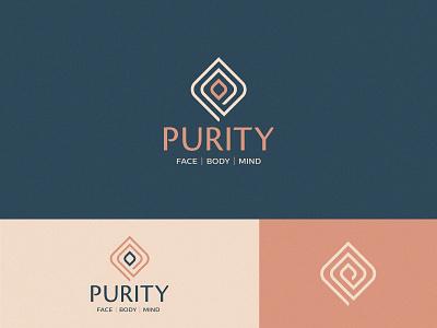 Logo design for Purity icon design icons branding design clean illustrator minimal identity yoga yoga studio symbol icon logo salon logo beauty beauty logo mindfullness logo mind yoga logo