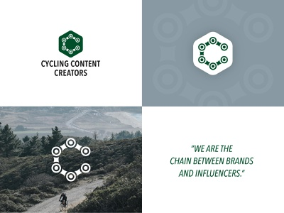 Logo for Cycling Content Creators web app logo clean design type illustration flat minimal identity icon branding