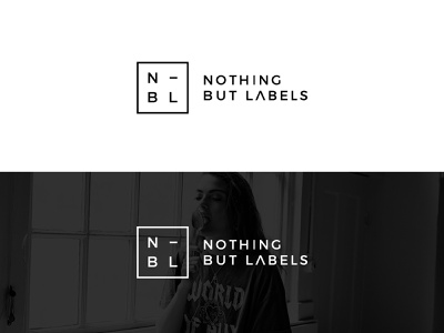 Logo for a clothing brand: Nothing But Labels icon typography type illustrator flat clean minimal logo identity design branding