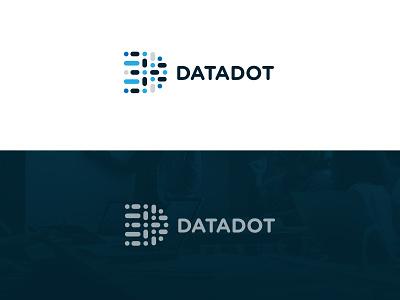 Datadot Logo lettering illustrator vector type web typography illustration flat clean minimal logo identity icon design branding