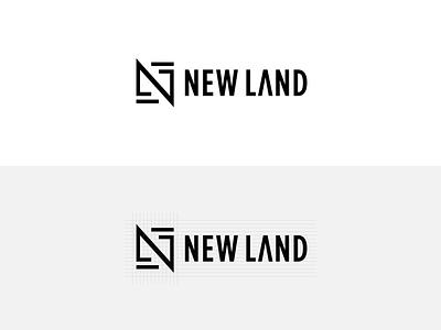 Logo for New land mobile web lettering ios flat design clean illustrator app icon branding logo