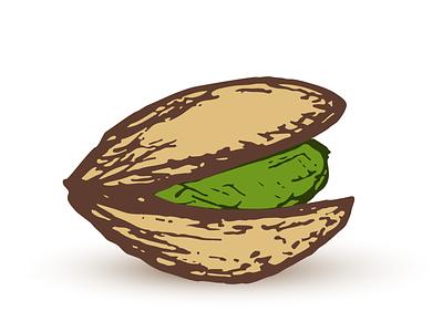 Pistachio vector drawing nut pistachio