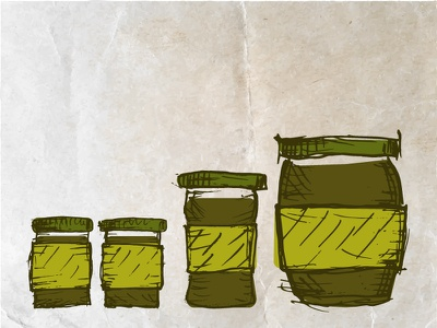 Jam-jars jam jar jamjar jars goods label drawing glass sketch