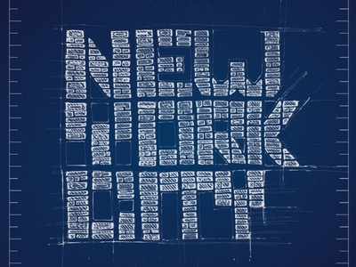 New York City sketch ink streets vision buildings letters type blueprint scheme manhattan typography showusyourtype new york city nyc