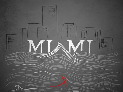 Miami for Showusyourtype letter scyscraper wave water city typo typography showusyourtype miami