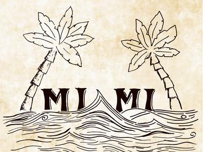 Miami II water sea palm palmtree miami vector illustration design sketch typo showusyourtype font typography