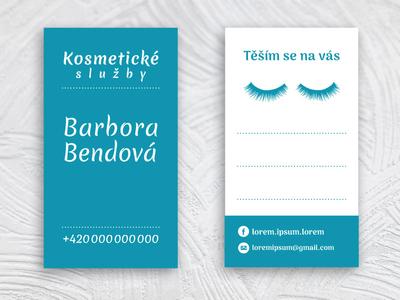 Business card for Barbora Bendová