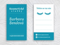 Business card for Barbora Bendová