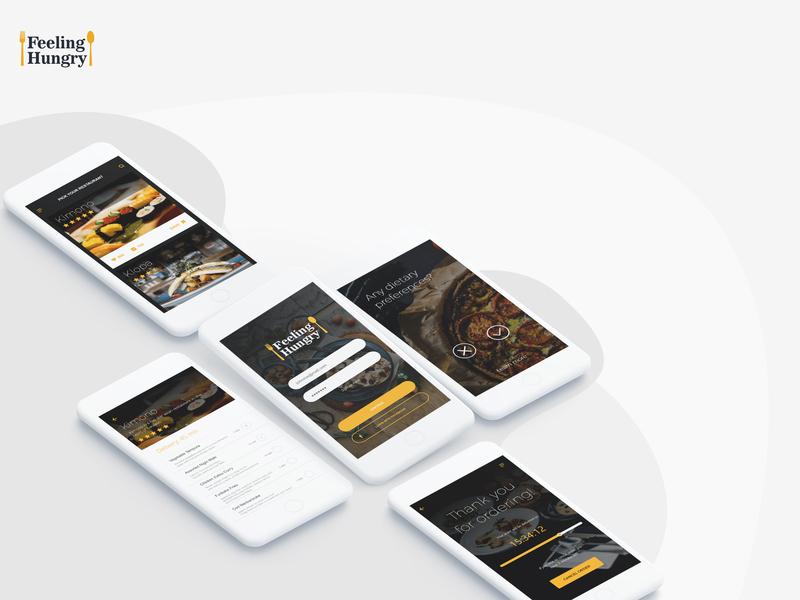 Feeling Hungry ios ui design ux app