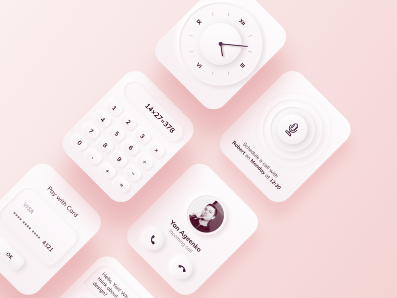 Neumorphism Watches Free Figma Template