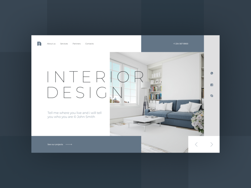 Interior design company website clean design branding logo website web ui clean typography minimal design