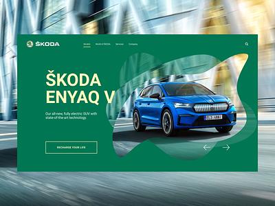 Skoda website concept website web ui clean minimal typography design