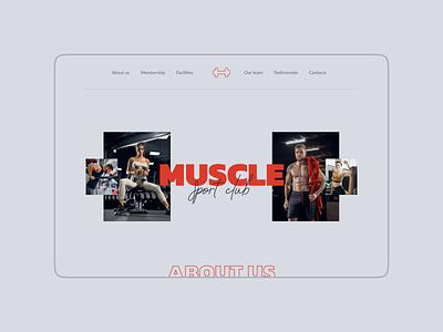 Gym website design (minimorphism style) minimorphism миниморфизм website web ui clean minimal typography design