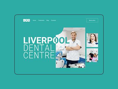 Dental centre website design (minimorphism style) minimorphism миниморфизм website ui web clean minimal typography design