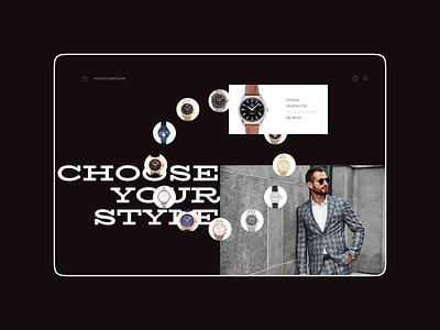 WatchShop website design (minimorphism style) minimorphism миниморфизм website web ui clean minimal typography design