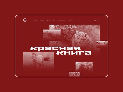 Дизайн сайта красной книги в стиле миниморфизм миниморфизм minimorphism website web ui clean minimal typography design