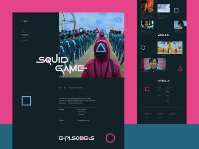Squid game website design (minimorphism style) ui design website web clean minimal миниморфизм minimorphism