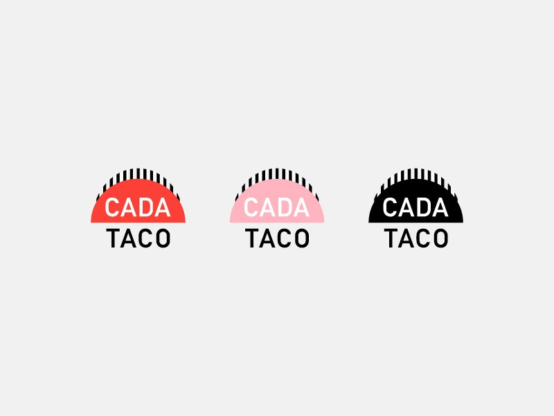 Cada Taco Logo Beginnings logo illustration food brand brand branding vector illustrator illustration logo logo design