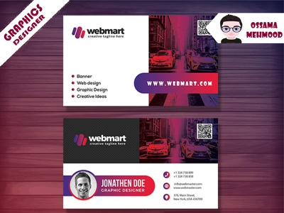Professional, Modern and Elegant Business Card business cards components branding design branding and identity brand design business card business card design logo identity illustration flat design brand branding brand identity adobe illustrator adobe photoshop