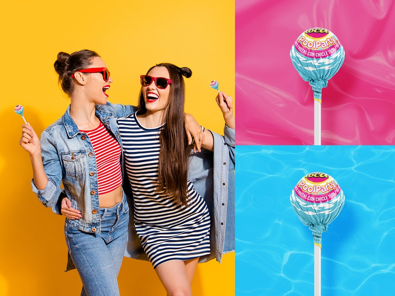 Bola Loca Pool Party | Packaging Design for Lheritier candies bolaloca brand identity graphicdesign design lollypop packagingdesign packaging design packaging