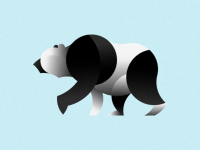 Geometric Animal Illustrations - Panda Bear